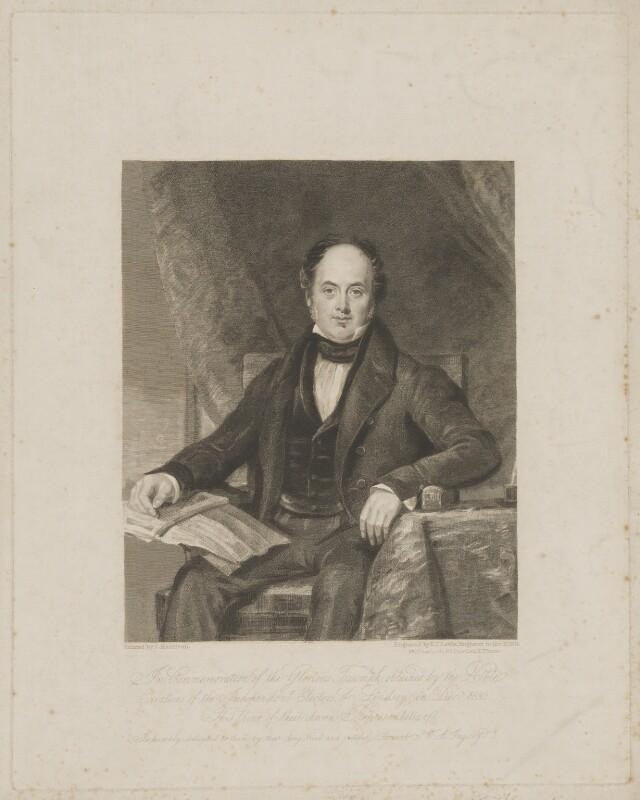 Charles Tennyson d'Eyncourt, by Frederick Christian Lewis Sr, after  John Harrison Jr, after 1832 - NPG D40526 - © National Portrait Gallery, London