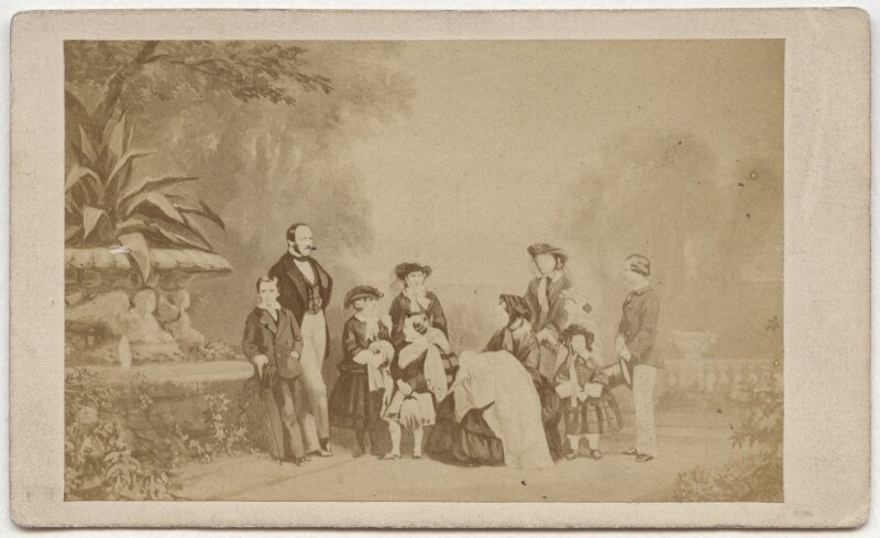 Queen Victoria with her family, by Caldesi, Blanford & Co, after  Leonida Caldesi, early 1860s (1857) - NPG x134737 - © National Portrait Gallery, London