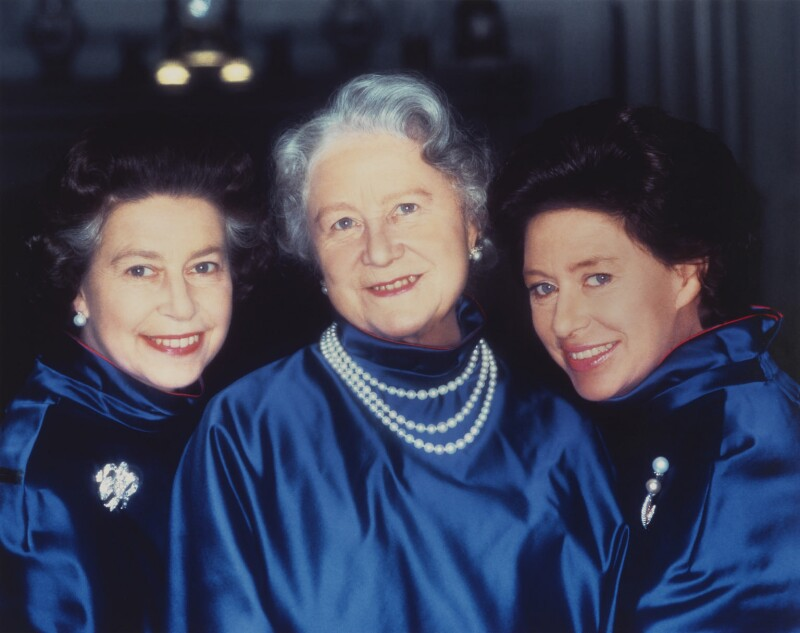 Queen Elizabeth II; Queen Elizabeth, the Queen Mother; Princess Margaret, by Norman Parkinson, 1980 - NPG P1607 - © Norman Parkinson Archive/ Iconic Images