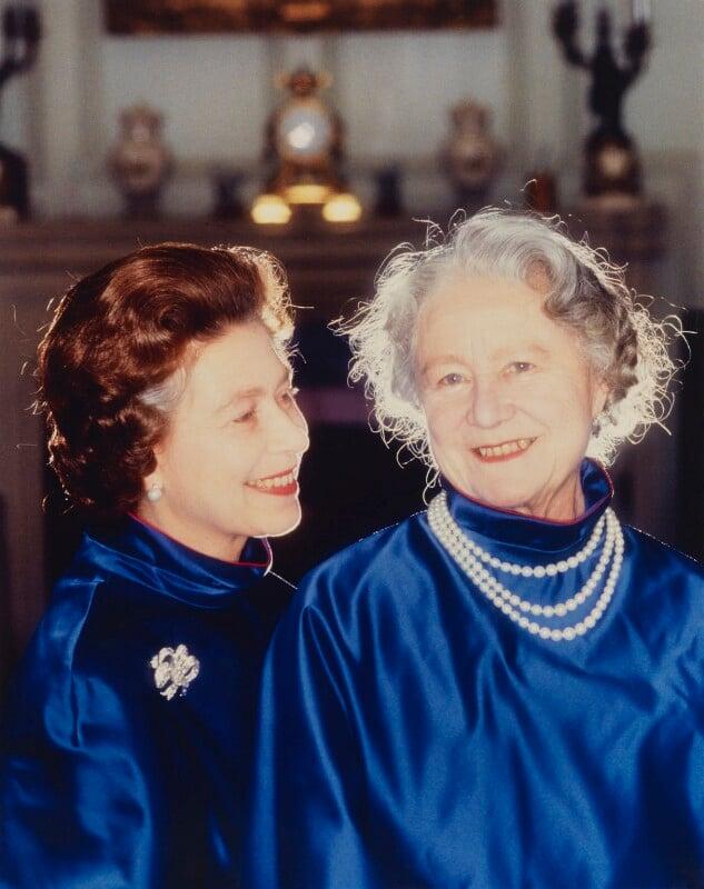 Queen Elizabeth II; Queen Elizabeth, the Queen Mother, by Norman Parkinson, 1980 - NPG P1608 - © Norman Parkinson Archive/ Iconic Images