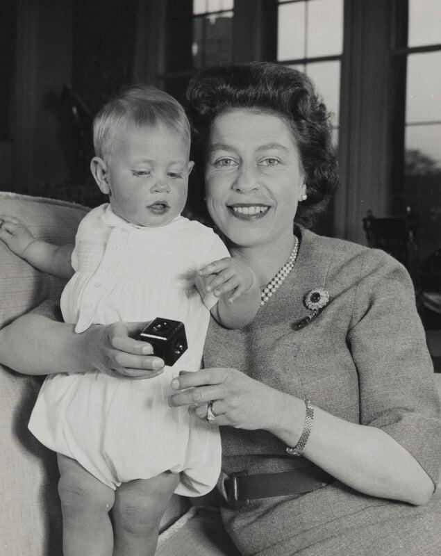Prince Edward; Queen Elizabeth II, by Studio Lisa (Lisa Sheridan), March 1966 - NPG P1636 - © Camera Press / Getty Images