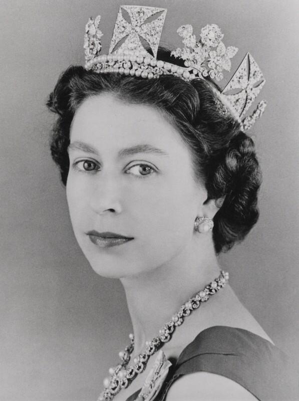 Queen Elizabeth II, by Lord Snowdon, 10 October 1957 - NPG P1641 - © Armstrong Jones