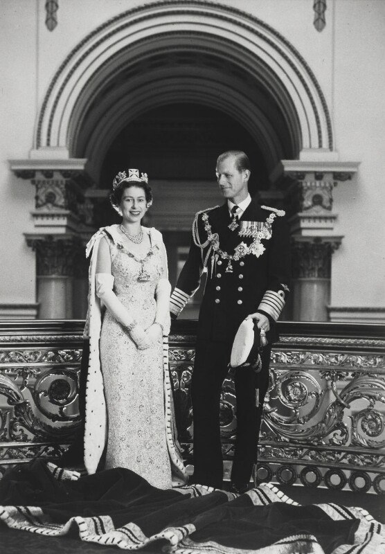 Queen Elizabeth II; Prince Philip, Duke of Edinburgh, by Lord Snowdon, 1958 - NPG P1643 - © Armstrong Jones