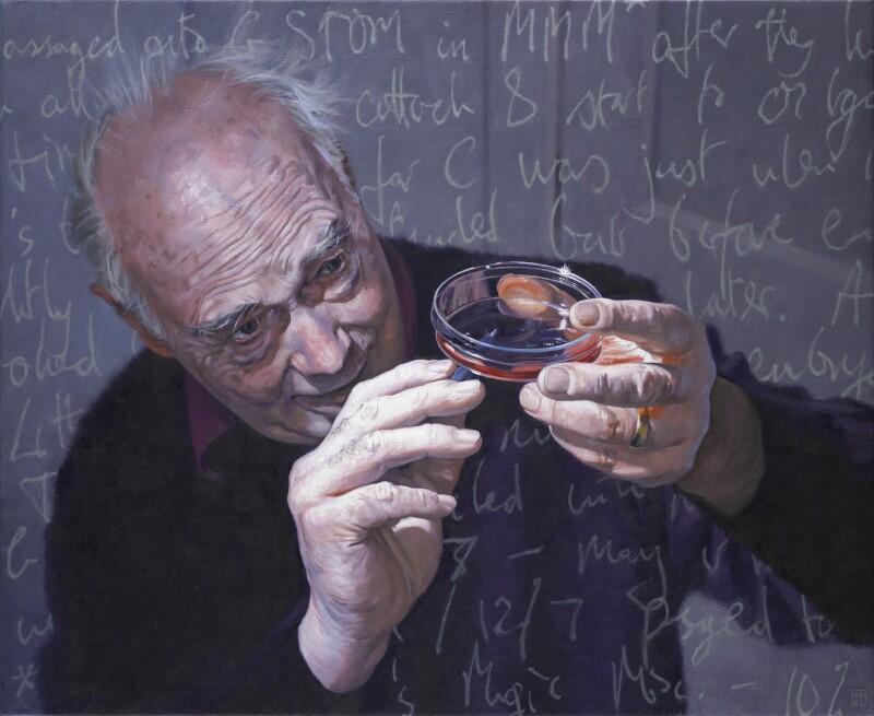 Sir Martin John Evans, by David Cobley, 2011 - NPG 6897 - © National Portrait Gallery, London