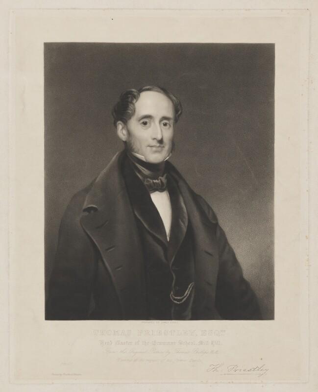 Thomas Priestley, by James Scott, after  Thomas Phillips, (1843) - NPG D40752 - © National Portrait Gallery, London