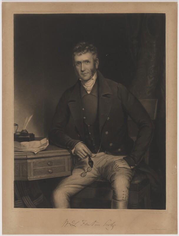 W.L. Fenton Scott, by James Scott, printed by  Brooker & Harrison, after  Samuel Howell, mid 19th century - NPG D40591 - © National Portrait Gallery, London