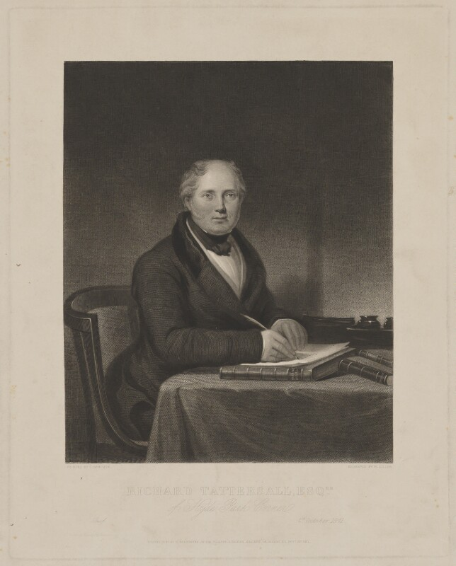 Richard Tattersall, by William Giller, published by  Rudolph Ackermann Jr, after  Charles Hancock, published 15 November 1841 - NPG D40821 - © National Portrait Gallery, London