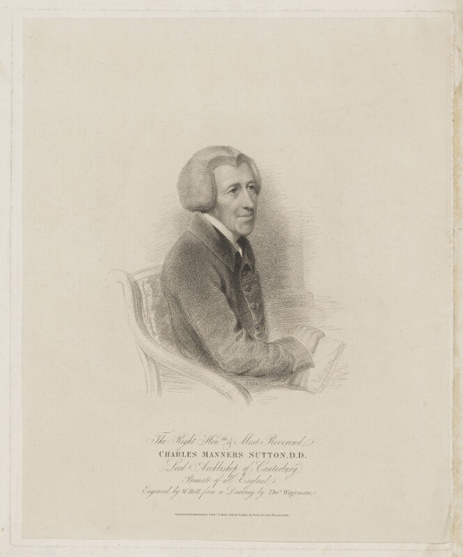 Charles Manners-Sutton, by William Holl Sr, published by  Robert Cribb & Son, after  Thomas Charles Wageman, published 2 February 1826 - NPG D40783 - © National Portrait Gallery, London