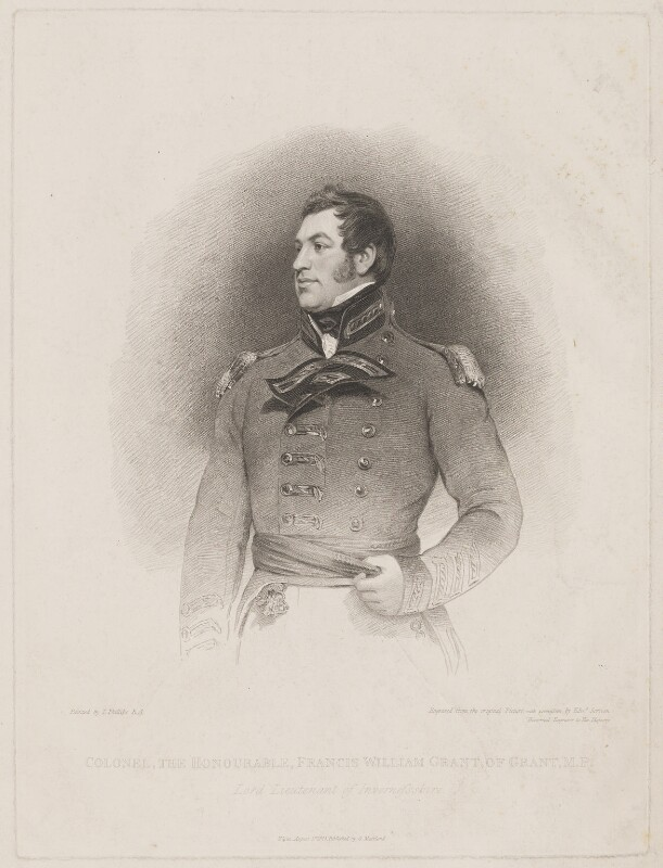 Francis William Ogilvie-Grant, 6th Earl of Seafield, by Edward Scriven, published by  George Maitland, after  Thomas Phillips, published 1 August 1825 - NPG D40619 - © National Portrait Gallery, London