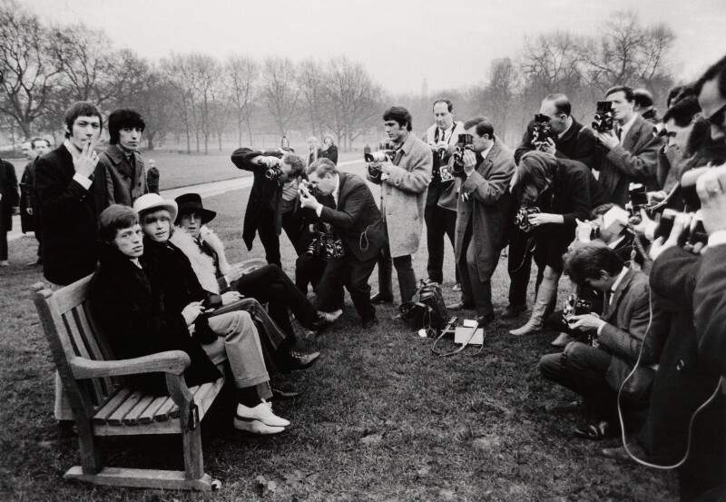The Rolling Stones in Green Park, by Peter Stone, for  Daily Mirror, 11 January 1967 - NPG x134772 -