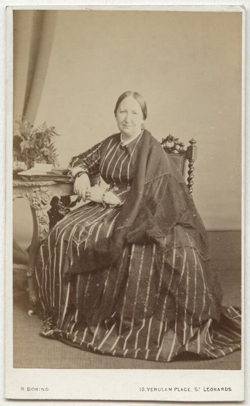 Catherine Marsh, by Robert Boning, 1860s - NPG x134791 - © National Portrait Gallery, London
