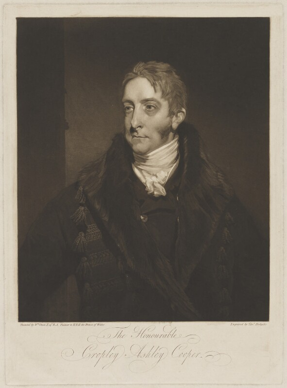Cropley Ashley-Cooper, 6th Earl of Shaftesbury, by Thomas Hodgetts, after  William Owen, early 19th century - NPG D40660 - © National Portrait Gallery, London
