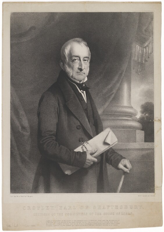 Cropley Ashley-Cooper, 6th Earl of Shaftesbury, by Charles Baugniet, printed by  M & N Hanhart, circa 1850 - NPG D40662 - © National Portrait Gallery, London