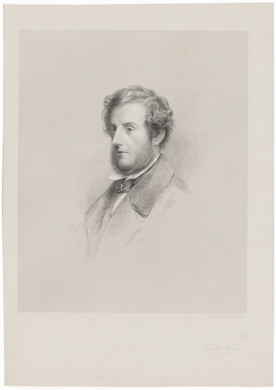 Anthony Ashley-Cooper, 7th Earl of Shaftesbury, by W. Joseph Edwards, published by  Henry Graves & Co, after  (Anthony) Frederick Augustus Sandys, published 1 June 1855 - NPG D40664 - © National Portrait Gallery, London
