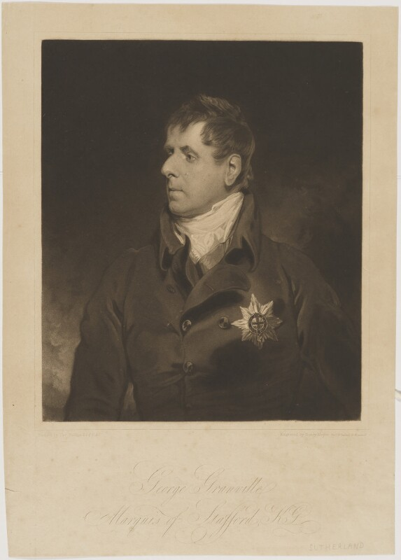 George Granville Leveson-Gower, 1st Duke of Sutherland, by Henry Meyer, after  Thomas Phillips, 1817 - NPG D40922 - © National Portrait Gallery, London