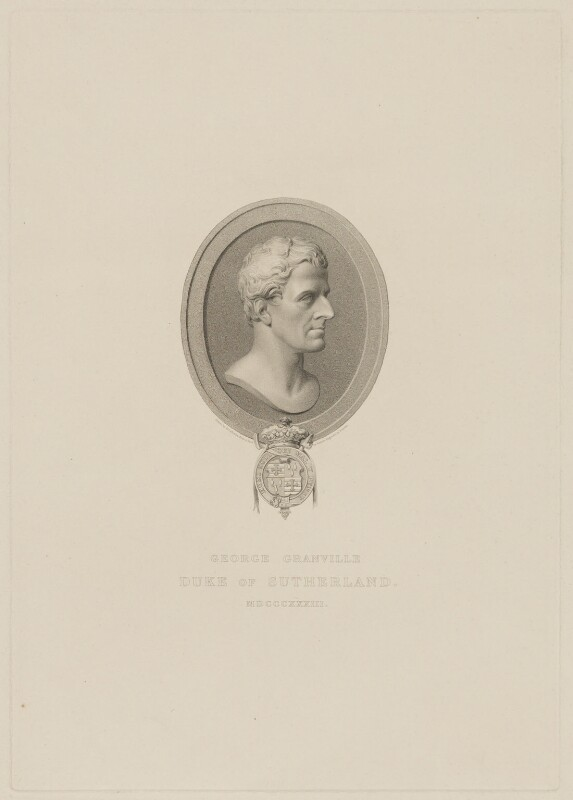 George Granville Leveson-Gower, 1st Duke of Sutherland, by Edward Scriven, after  Henry Corbould, after  John Francis, 1833 - NPG D40923 - © National Portrait Gallery, London