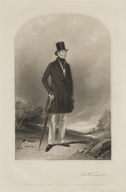 George Granville Sutherland-Leveson-Gower, 2nd Duke of Sutherland, by Samuel William Reynolds, printed by  Brooker & Harrison, published by  Thomas Agnew, and published by  Ackermann & Co, and published by  Anaglyphic Company, after  Richard Ansdell, published 18 July 1844 - NPG D40925 - © National Portrait Gallery, London
