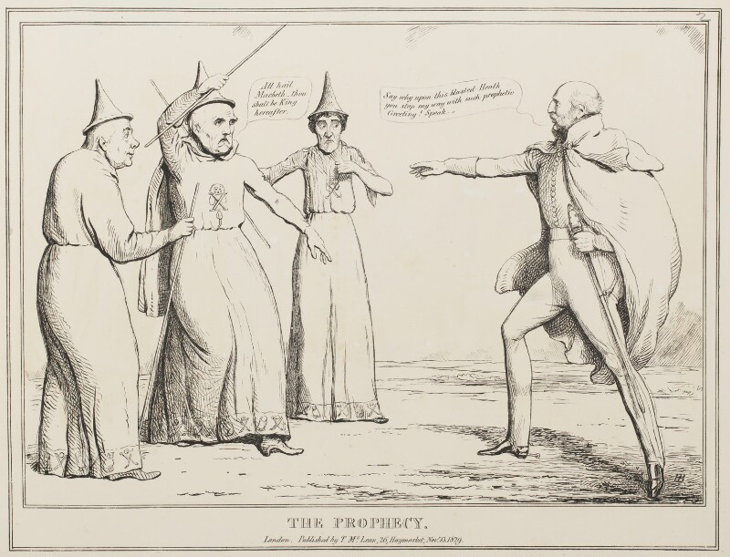 The Prophecy, by John ('HB') Doyle, published by  Thomas McLean, published 13 November 1829 - NPG D40937 - © National Portrait Gallery, London
