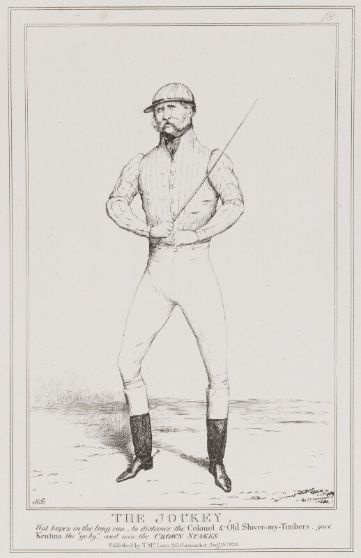 Ernest Augustus, Duke of Cumberland and King of Hanover (The Jockey'), by John ('HB') Doyle, published by  Thomas McLean, published 18 August 1829 - NPG D40953 - © National Portrait Gallery, London