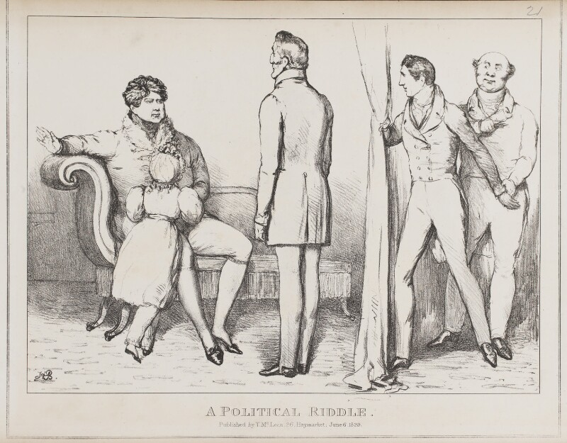 A Political Riddle, by John ('HB') Doyle, published by  Thomas McLean, published 6 June 1829 - NPG D40956 - © National Portrait Gallery, London