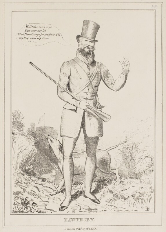 Hawthorn (Ernest Augustus, Duke of Cumberland and King of Hanover), by John ('HB') Doyle, published by  Thomas McLean, published 8 December 1829 - NPG D40973 - © National Portrait Gallery, London