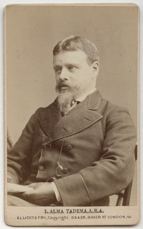 Sir Lawrence Alma-Tadema, by Elliott & Fry, circa 1876 - NPG x134824 - © National Portrait Gallery, London