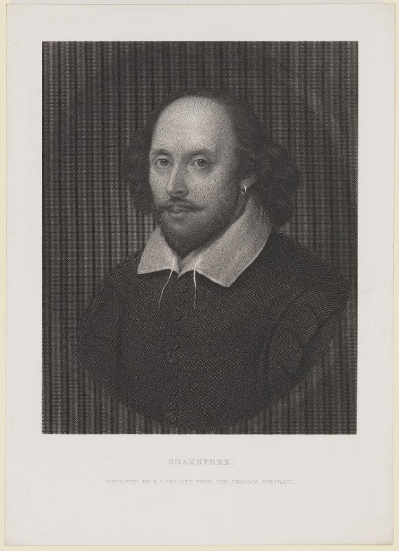 William Shakespeare, by Richard Austin Artlett, after a painting attributed to  John Taylor, circa 1850-1873 (circa 1610) - NPG D40740 - © National Portrait Gallery, London