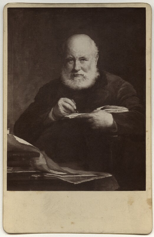 Sir George Scharf, by Henry Dixon & Son, after  Walter William Ouless, 1889 (1885) - NPG Ax134834 - © National Portrait Gallery, London