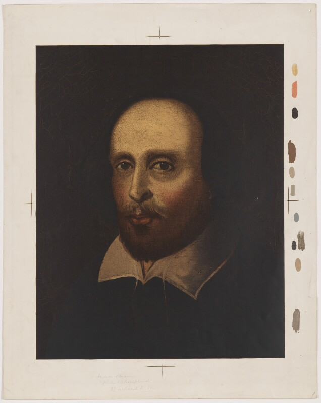 William Shakespeare, after a painting attributed to John Taylor, (circa 1610) - NPG D41643 - © National Portrait Gallery, London