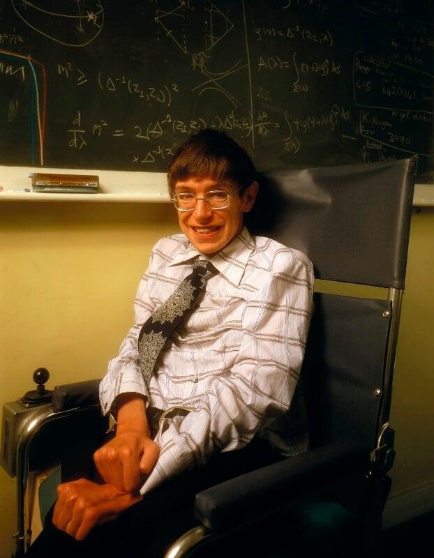 Stephen Hawking, by Denis Waugh, September 1978 - NPG x134846 - © Denis Waugh / National Portrait Gallery, London