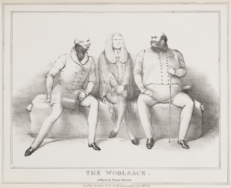 The Woolsack, by John ('HB') Doyle, published by  Thomas McLean, published 8 April 1830 - NPG D40995 - © National Portrait Gallery, London