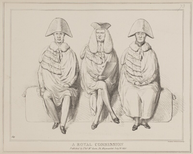 A Royal Commission, by John ('HB') Doyle, printed by  Charles Etienne Pierre Motte, published by  Thomas McLean, published 30 July 1830 - NPG D41008 - © National Portrait Gallery, London