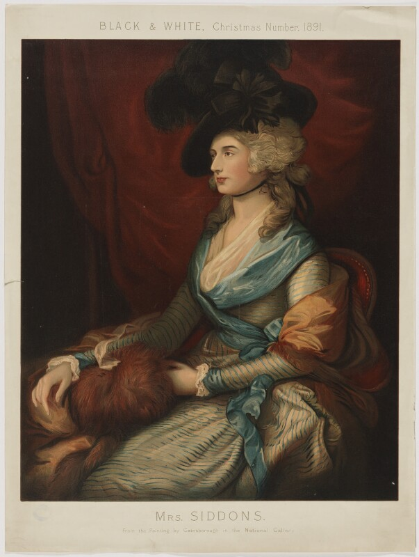 Sarah Siddons (née Kemble), after Thomas Gainsborough, (1785) - NPG D41676 - © National Portrait Gallery, London