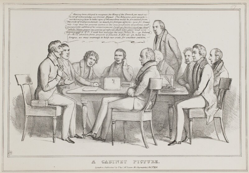A Cabinet Picture, by John ('HB') Doyle, published by  Thomas McLean, published 5 November 1830 - NPG D41022 - © National Portrait Gallery, London