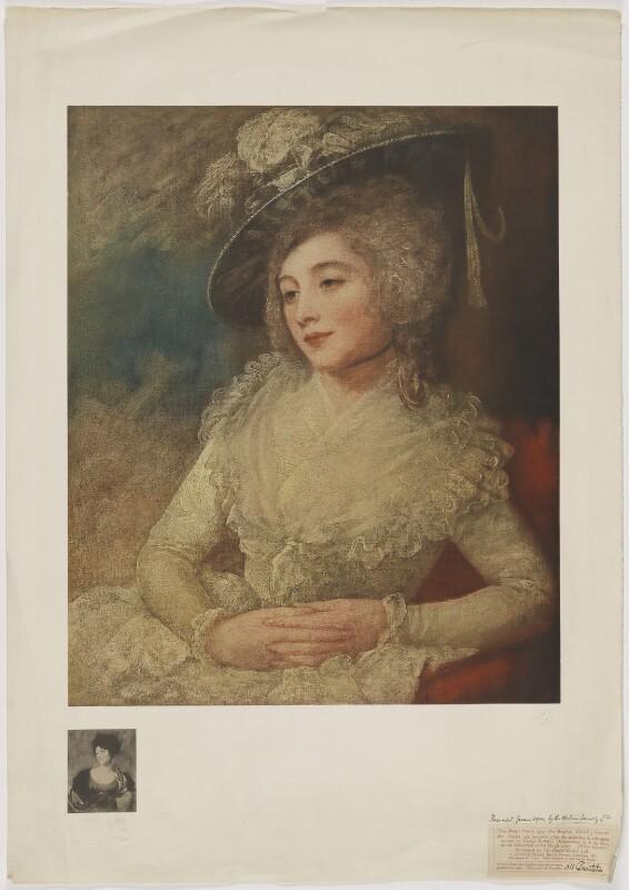Mrs Taylor (née Janverin), published by The Medici Society Ltd, after  George Romney, published 1913 (1784) - NPG D40862 - © National Portrait Gallery, London