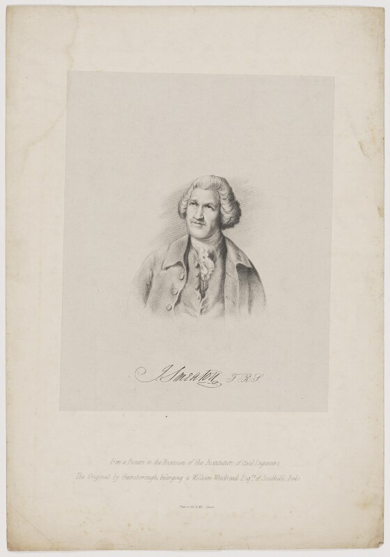 John Smeaton, by Miss Ickusch, after  Thomas Gainsborough, (1783) - NPG D41731 - © National Portrait Gallery, London