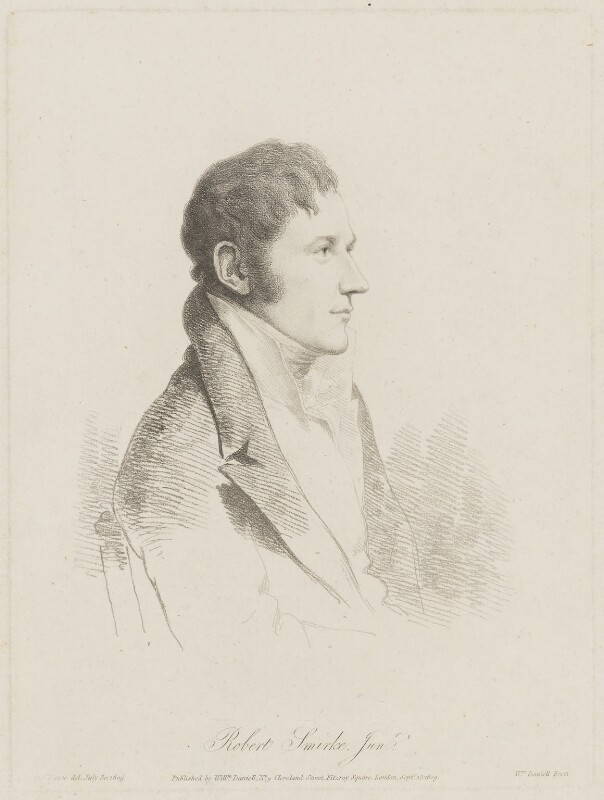 Sir Robert Smirke, by and published by William Daniell, after  George Dance, published 15 September 1809 (30 July 1809) - NPG D41735 - © National Portrait Gallery, London
