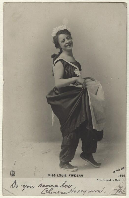 Louie Freear, by (Karl Anton) Reinhold Thiele, 1900s - NPG Ax160226 - © National Portrait Gallery, London