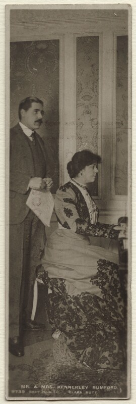 Robert Henry Kennerley-Rumford; Dame Clara Ellen Butt, published by Rotary Photographic Co Ltd, 1900s - NPG Ax160237 - © National Portrait Gallery, London