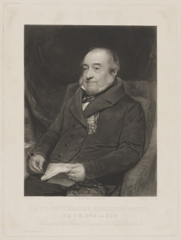 Charles Hamilton Smith, by James Scott, printed by  Brooker & Harrison, published by  Edmund Fry, after  Amelia Opie, published 1841 - NPG D41745 - © National Portrait Gallery, London