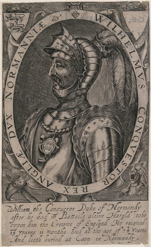 King William I ('The Conqueror'), probably by Renold or Reginold Elstrack (Elstracke), circa 1628 - NPG D41921 - © National Portrait Gallery, London