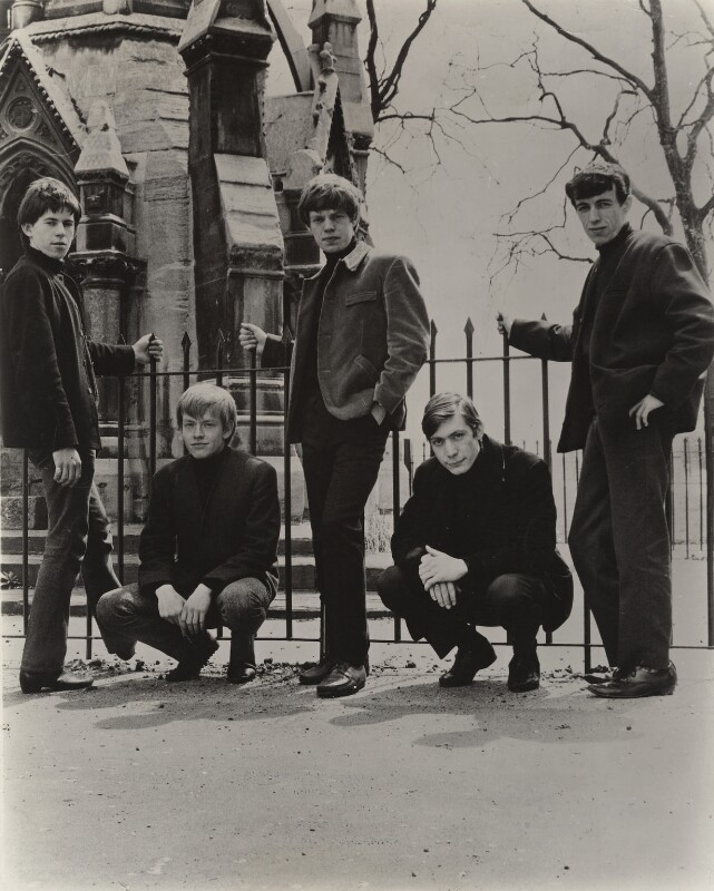 The Rolling Stones (Keith Richards, Brian Jones, Mick Jagger, Charlie Watts, Bill Wyman), by Philip Townsend, 1963 - NPG x134866 - © Philip Townsend Archive