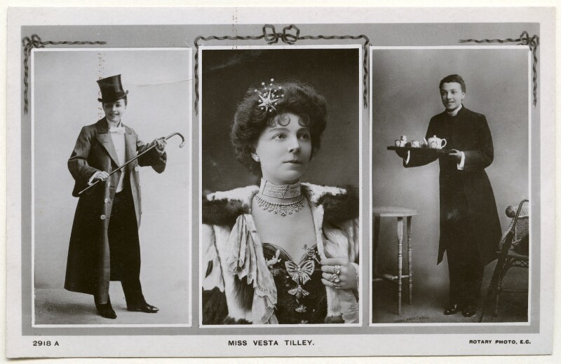 Vesta Tilley, published by Rotary Photographic Co Ltd, late 1900s - NPG Ax160262 - © National Portrait Gallery, London
