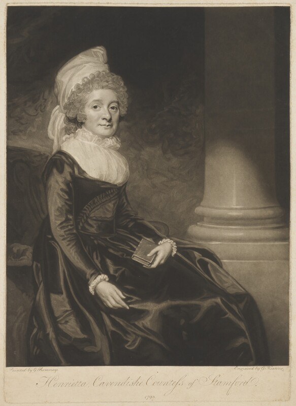 Henrietta Grey (née Cavendish Bentinck), Countess of Stamford, by George Keating, after  George Romney, 1793 - NPG D41850 - © National Portrait Gallery, London