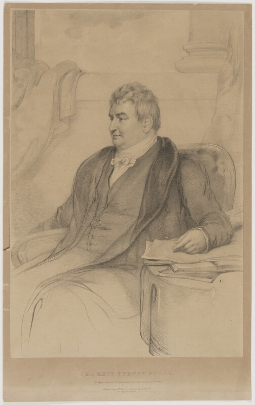 Sydney Smith, by William Sharp, printed by  Charles Joseph Hullmandel, published by  Joseph Dickinson, after  John Hayter, published 20 April 1835 - NPG D41764 - © National Portrait Gallery, London