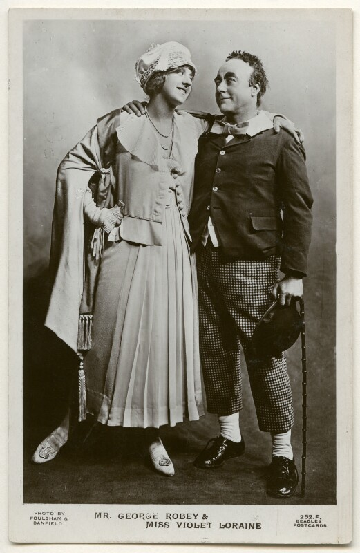 Violet Loraine and George Robey in 'The Bing Boys Are Here', by Foulsham & Banfield, published by  J. Beagles & Co, 1916 - NPG Ax160326 - © National Portrait Gallery, London