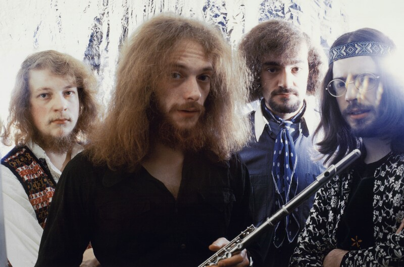 Jethro Tull (Martin Barre, Ian Anderson, Clive Bunker, Glenn Cornick), by Wolfgang Heilemann, 1969 - NPG x134877 - © reserved; collection National Portrait Gallery, London