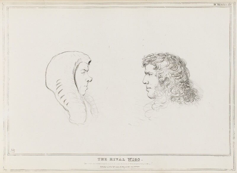 The Rival Wigs (Henry Brougham, 1st Baron Brougham and Vaux; Edward Law, 1st Earl of Ellenborough), by John ('HB') Doyle, published by  Thomas McLean, published 28 June 1831 - NPG D41072 - © National Portrait Gallery, London