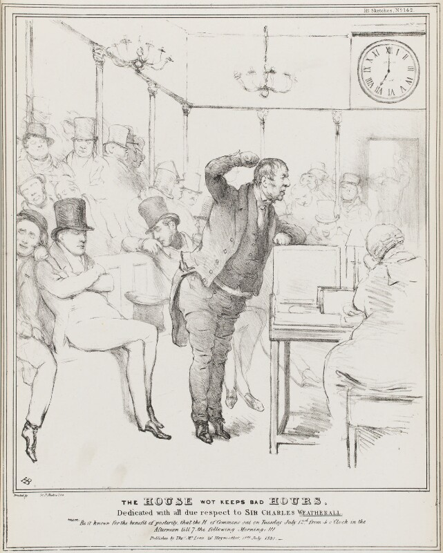 The House Wot Keeps Bad Hours, by John ('HB') Doyle, published by  Thomas McLean, published 18 July 1831 - NPG D41077 - © National Portrait Gallery, London