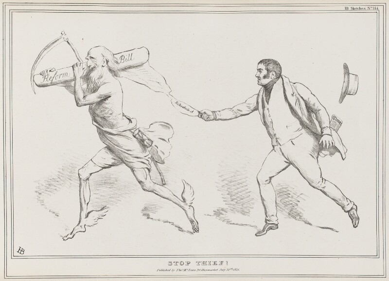 Stop Thief! (John Charles Spencer, 3rd Earl Spencer), by John ('HB') Doyle, published by  Thomas McLean, published 27 July 1831 - NPG D41079 - © National Portrait Gallery, London